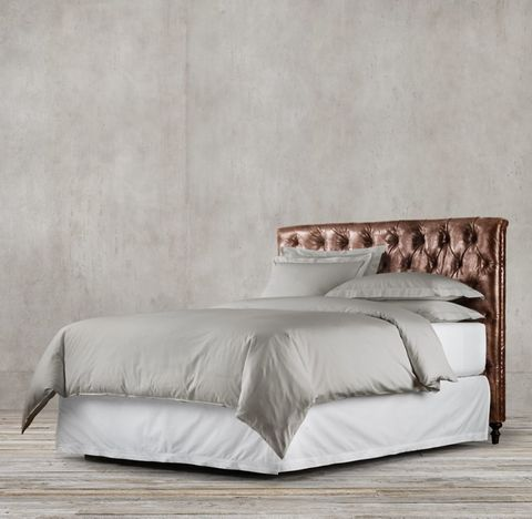 Chesterfield Leather Panel Headboard