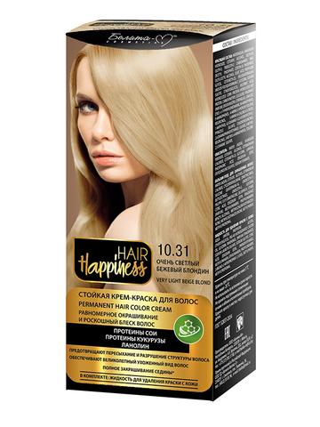 Белита-М Hair Happiness Крем-краска для волос аммиачная №10.31 светлый бежевый блондин