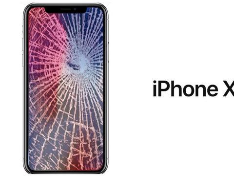 Замена разбитого стекла на дисплее iPhone X 10