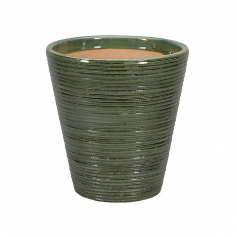Кашпо Sicilia (керамика), D25xH28см зелёный антик