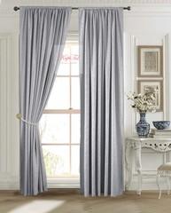Длинные шторы. Лоран (серый). Шторы из стриженного бархата.