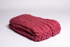 Плед из шерсти мериноса, грязно-розовый