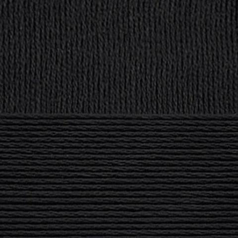 Пряжа Лаконичная (Пехорка) 02 черная, фото