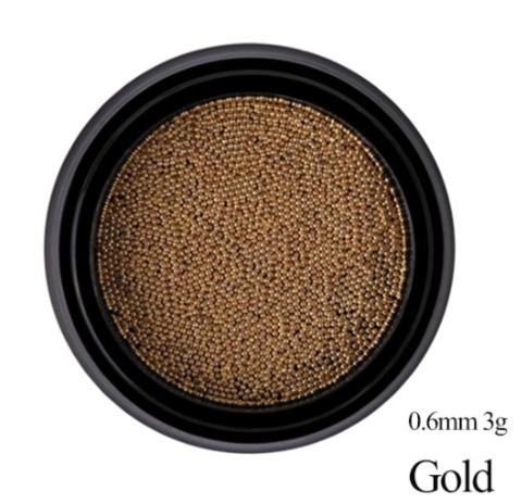 Бульонки металлические - розовое золото 0,6 мм (3 гр)