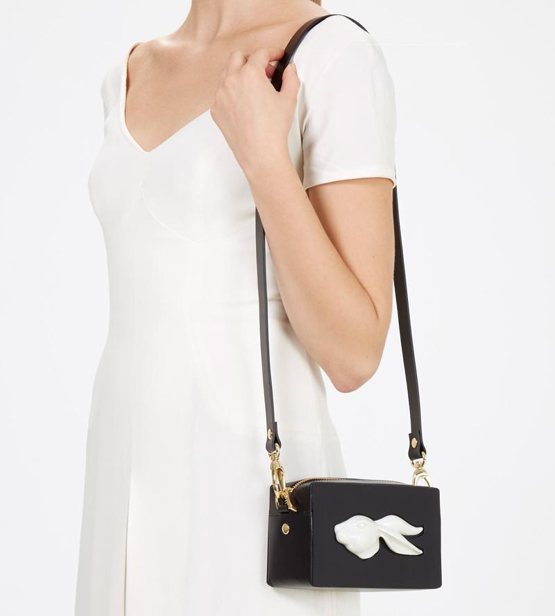 Прямоугольная сумка из кожи Rabbit Black от ANDRES GALLARDO