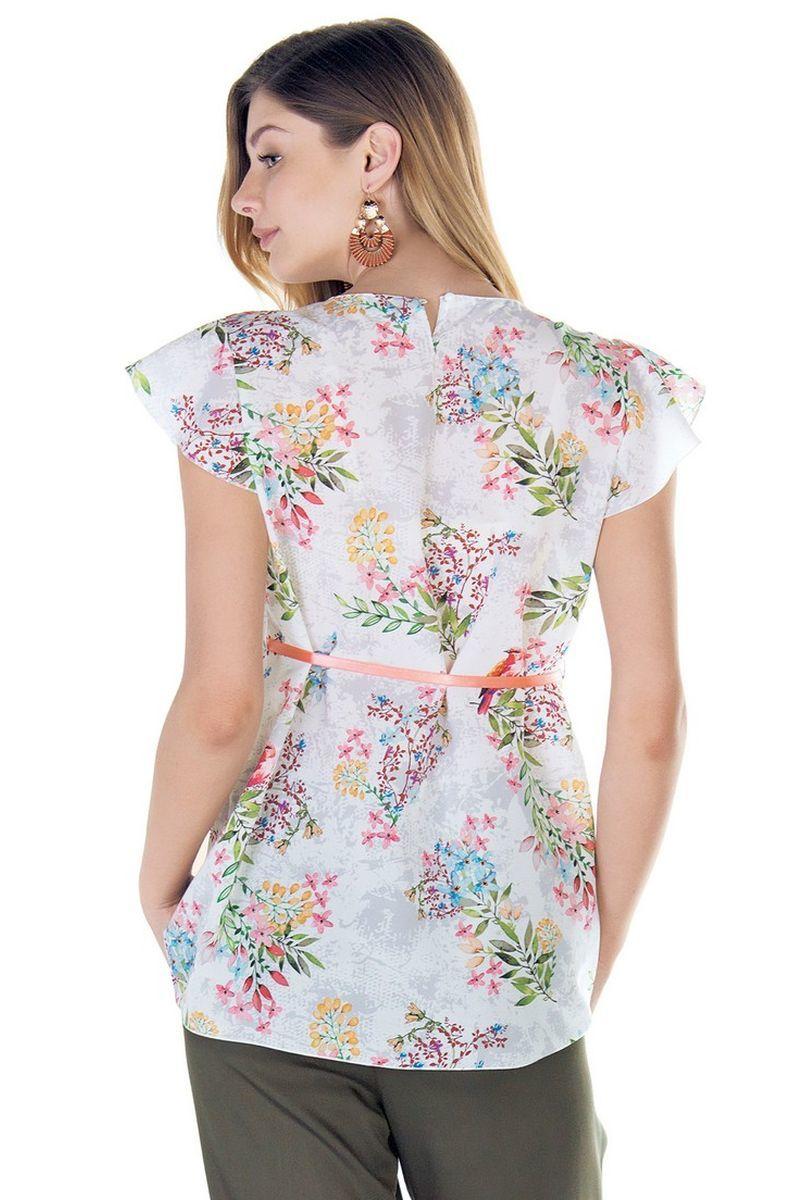 Блузка 09436 цветы