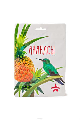 Ананасы ВьетКонг сушеные, 100 гр.
