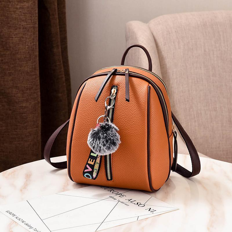 Женский маленький рюкзакок 18х24х12 см оранжевый 4378-3