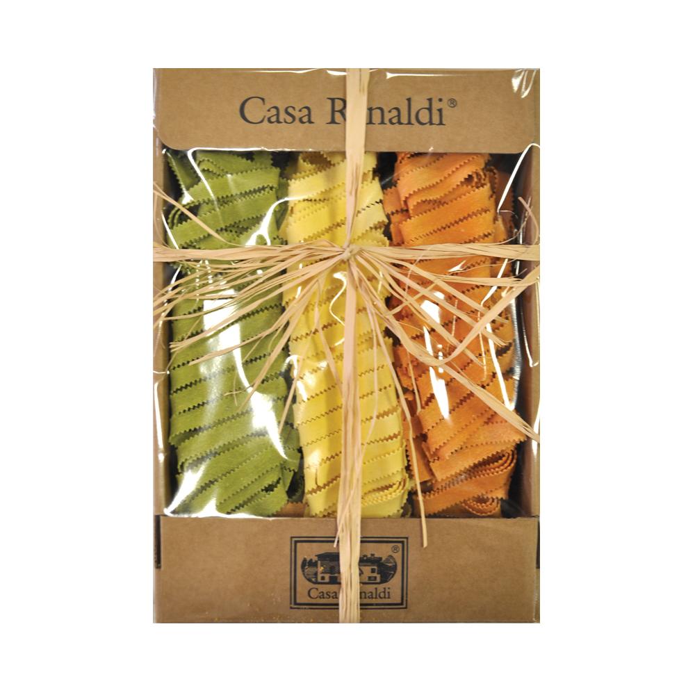 Паста Casa Rinaldi яичная Лапша пиццы трехцветная 500 г купить