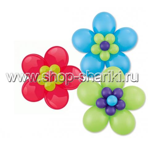 Цветок из шаров 5 лепестков