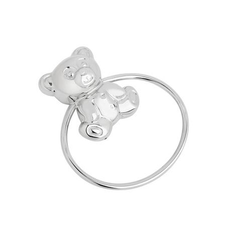 Серебряная погремушка «Мишка»