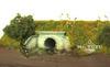 Живописная железнодорожная диорама Tutu-Box 1004 с защитным колпаком