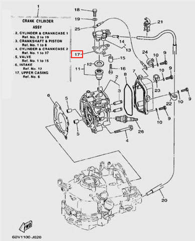 Прокладка крышки термостата для лодочного мотора F5 Sea-PRO(2-17)