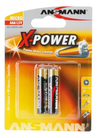 Батарейка щелочная AAA ANSMANN X-POWER 1.5V - 2шт