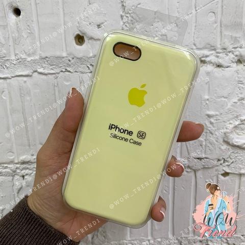 Чехол iPhone 5/5s/SE Silicone Case /mellow yellow/ волшебно-желтый 1:1