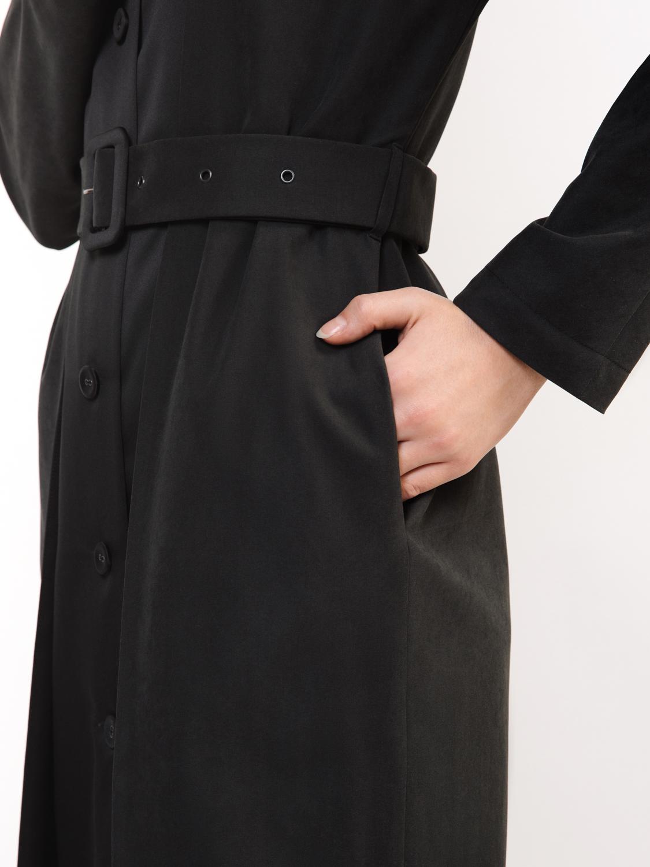 Пальто с круглым воротником
