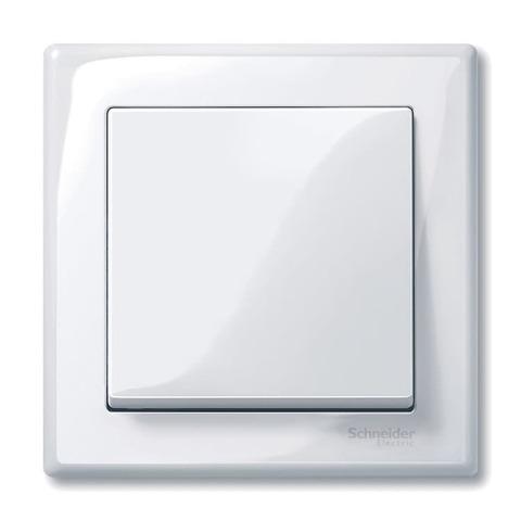 Рамка на 1 пост. Цвет Активный белый, блестящий. Merten M-smart. MTN478125