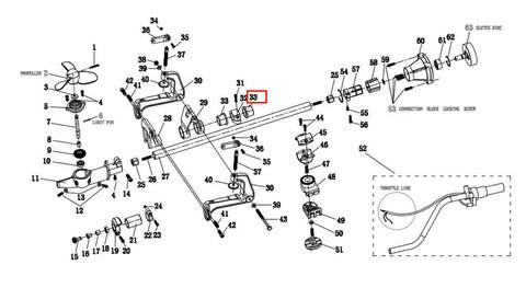 Втулка кронштейна  для лодочного мотора T2 SEA-PRO