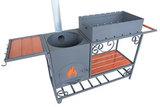 Мангал дачный ММ-22 с печью под казан