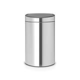 Двухсекционный мусорный бак Touch Bin New 10/23 л матовый с защитой от отпечатков пальцев, артикул 112867, производитель - Brabantia