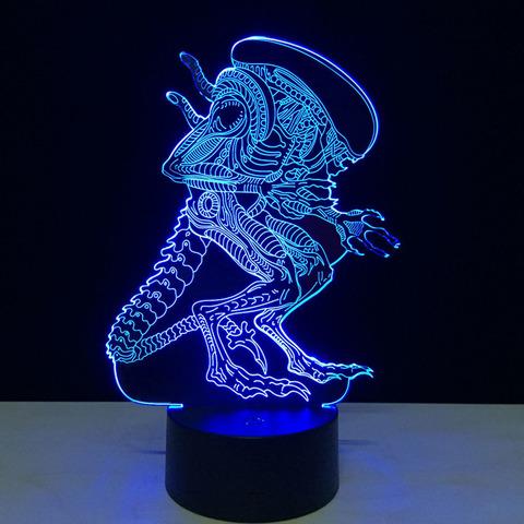 3D светильник с пультом Чужой — 3D light remote control Alien