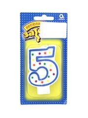 Свеча для торта цифра 5