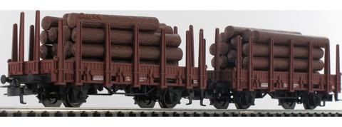 Marklin 44310 Набор из двух грузовых платформ для перевозки леса и грузовик-лесовоз