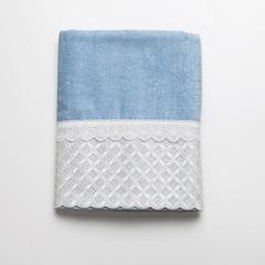 Полотенце 69х127 Avanti Eyelet Scallop голубое