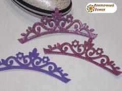 Заготовка Корона цветочная перфорация розово-сиреневая