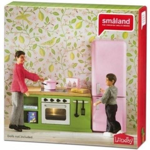 Кухонный набор с холодильником Lundby Смоланд 60202700