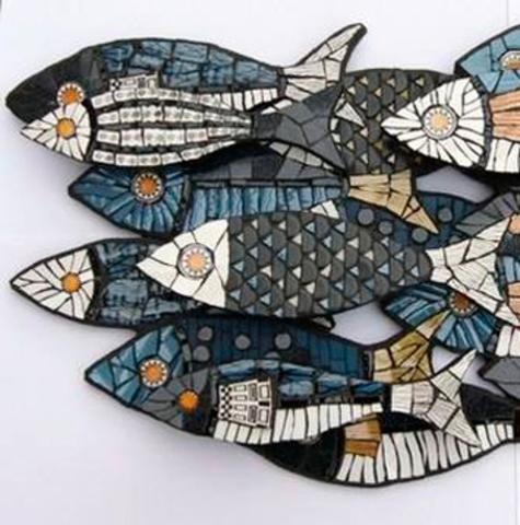 Рыба из пенопласта.