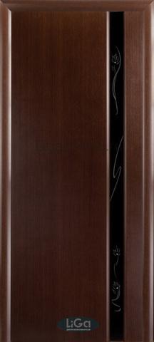 Дверь Модерн – 1 (венге, остекленная шпонированная), фабрика LiGa