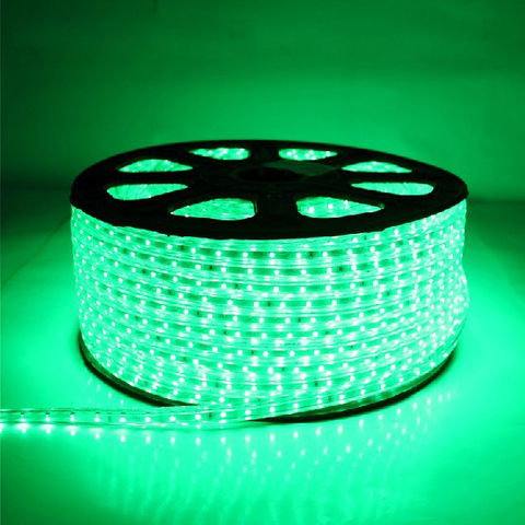 Светодиодная лента SMD3528/60, 220V влагозащищенная. Зеленая.