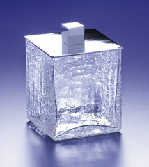 Емкость для косметики Windisch Box Craquele хром средняя