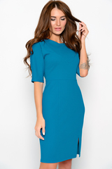 Элегантное платье приталенного силуэта. По переду платья небольшой разрез, придающий изюминку вашему образу. Пояс в стоимость не входит.(Длины: 46р- 94см; 48р- 94см; 50р- 95см; 52р- 97см; 54р- 98см)