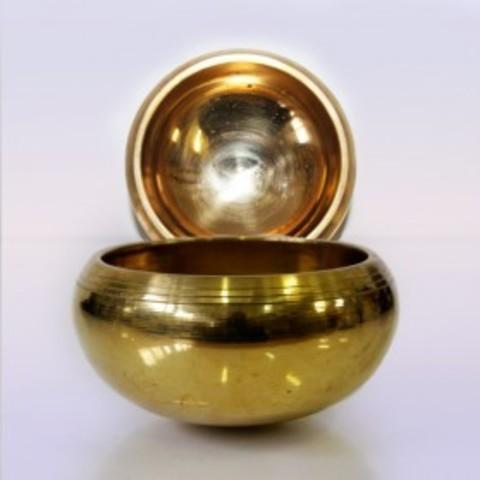 Чаша поющая GOLD 7 металлов Настройка чакр (Индия)