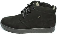 Кожаные ботинки на шнуровке мужские зимние Ikoc 1617-1 WBN.
