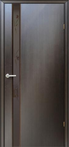 Дверь Модерн – 3 (стекло бабочки) (венге, остекленная шпонированная), фабрика LiGa