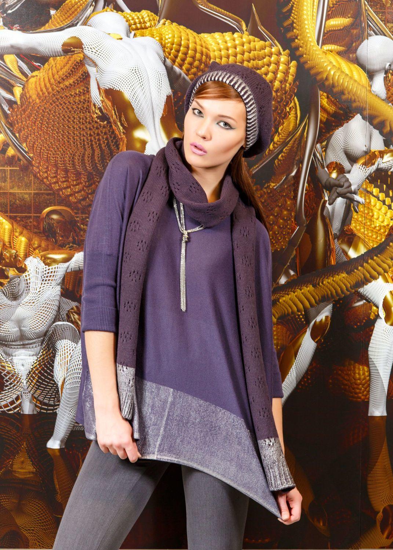 Шарф Ш807-026 - Вязаный шарф темно-ежевичного цвета. Является как модным украшением, дополняющим образ, так и теплым и уютным аксессуаром. В составе изделия сочетаются акрил и шерсть, эти материалы делают шарф прочным, теплым и устойчивым к внешним воздействиям. Можно создать комплект, подобрав шапку из этой серии.