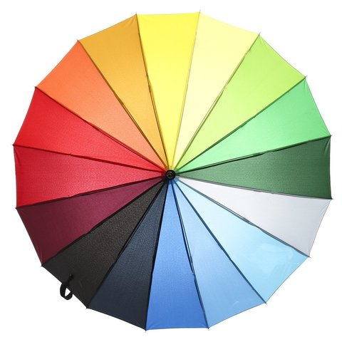 Зонт женский, радуга, Dolphin 476