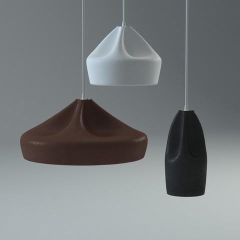 pendant Pleat Box Lamp by Xavier Ma?osa ( 34 cm )
