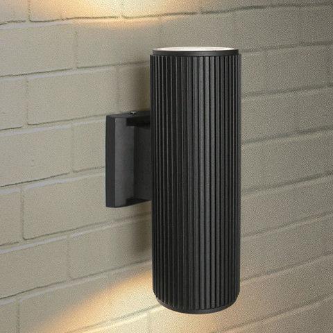 Уличный настенный светильник 1403 TECHNO черный