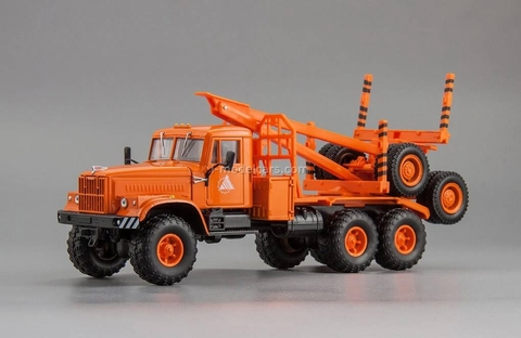KRAZ-255L1 timber carrier (6x6) 1980 orange 1:43 Nash Avtoprom