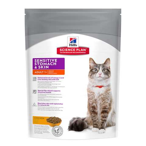 Hill's Science Plan Feline Adult Sensitive Stomach and Skin Chicken with Egg and Rice
