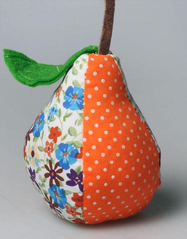 Груша оранжевая пестрая ручной работы E 302776 D