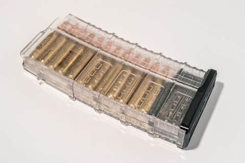 Магазин Pufgun Вепрь-308 на 25 патронов, прозрачный