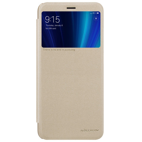 Чехол книжка Nillkin для Xiaomi Mi A2 Золотистый