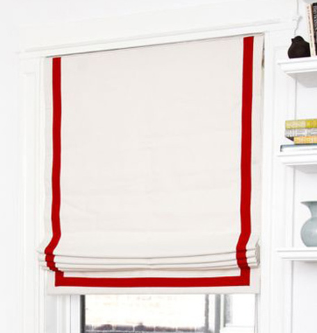 Хлопковая римская штора Тенде с лентой белая