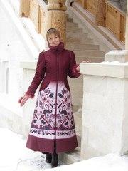 Красавица Наталья в пальто
