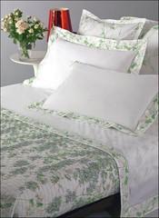 Постельное белье семейное Mirabello Cascata di Fiori светло-серое